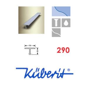 پروفیل آلومینیومی تی شکل جهت اتصال و پوشش درز ها