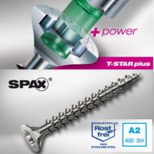 پیچ چوب استیل SPAX – 5X60