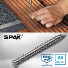 پیچ دکینگ چوبی استیل SPAX – 5X60